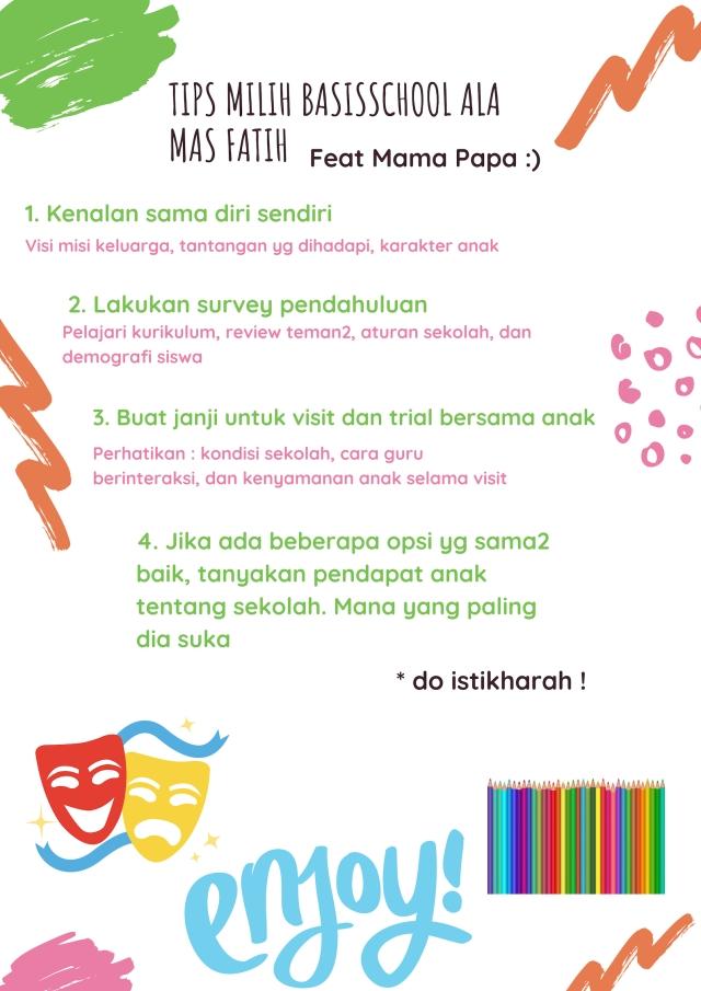 Tips milih basisschool ala Mas fatih